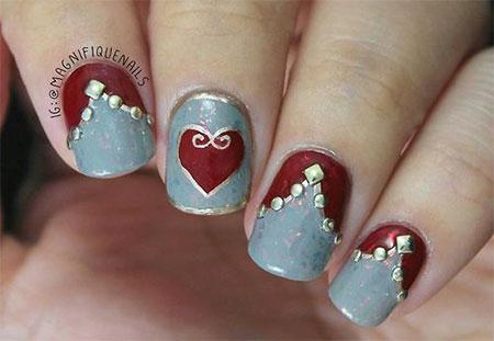 Elegant Heart Nail Art Designs Ideas For Valentine39s Day