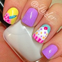 10 + Awesome Happy B'Day Cake Nail Art Designs & Ideas ...