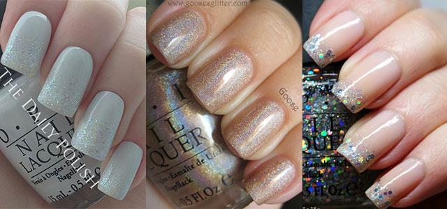 Smashing Glitter Wedding Nail Art Designs Ideas 2014