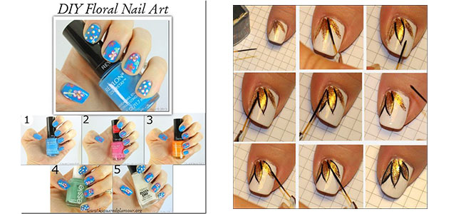 Comfortable Easy Simple Spring Nail Art Tutorials 2014 For Beginners