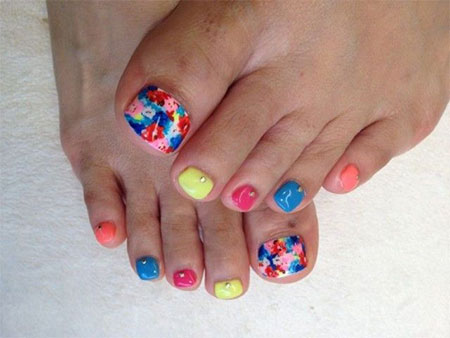 12 Summer Themed Toe Nail Art Designs Ideas Trends Stickers 2014 Fabulous Nail Art Designs