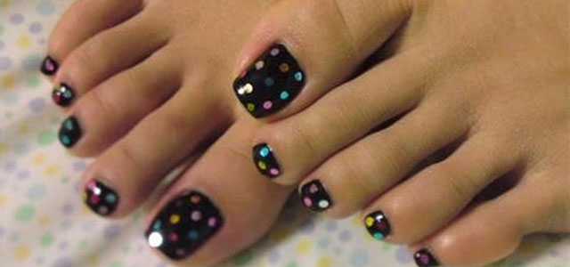 Simple Summer Inspired Toe Nail Art Designs Ideas Trends Stickers 2014 Fabulous Nail Art