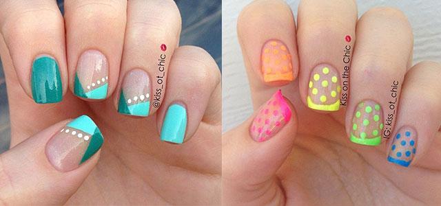 15 Cute Polka Dot French Nail Art Designs Ideas