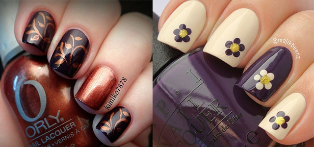 15 Cute Easy Fall Nail Art Designs Ideas Trends