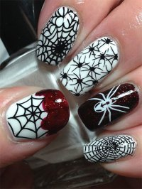 18 Halloween Spider Web Nail Art Designs, Ideas, Trends ...