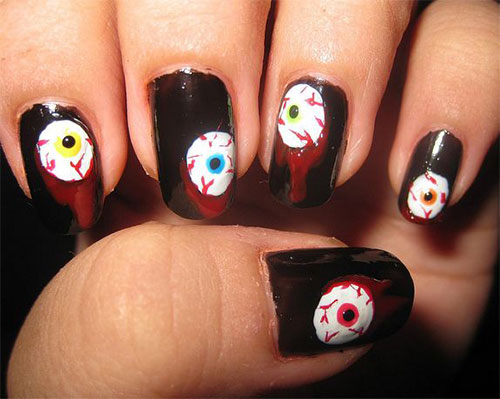 Cozy 20 Simple Halloween Nail Art Designs Ideas Trends Stickers For