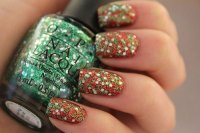 15+ Red, Green, Gold Christmas Nail Art Designs, Ideas ...