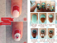 Cute Christmas Hat Nail Art Designs Ideas Trends