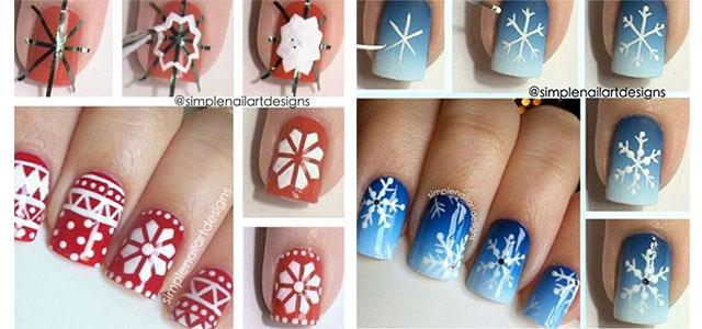 Snowflake Nail Art Tutorial Nail Ftempo