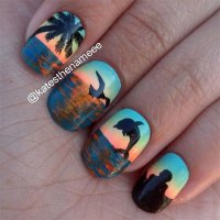 18 Beach Nail Art Designs, Ideas, Trends & Stickers 2015