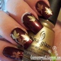 25+ Best Autumn Leaf Nail Art Designs, Ideas & Stickers ...