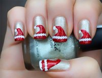 12 Santa Hat Nail Art Designs, Ideas, Trends & Stickers ...