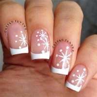 20+ Christmas Snowflake Acrylic Nail Art Designs, Ideas ...
