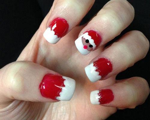 √ Christmas Santa Face Nail Art Designs, Ideas & Stickers