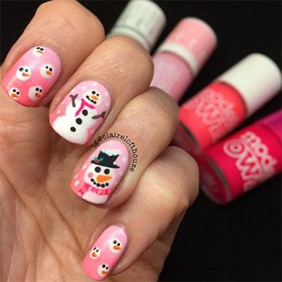 snowman nail design teeny tiny snowman nail art design