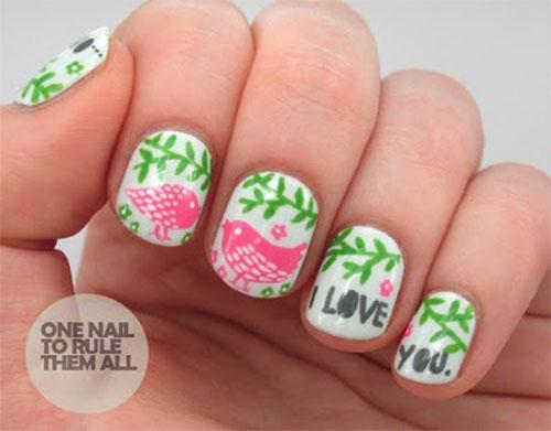 12 Cute I Love You Valentine39s Day Nail Art Designs Ideas