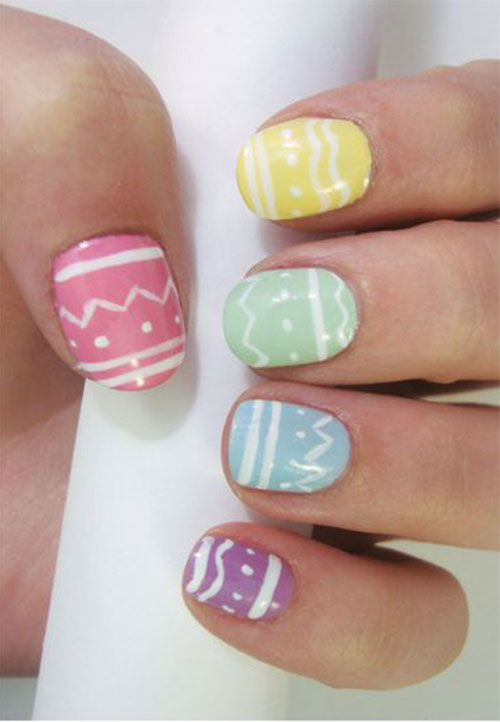15 Easter Color Nail Art Designs Ideas Stickers 2016