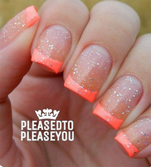 12+ Gel Nails French Tip Designs & Ideas 2016