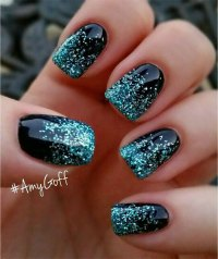 15 French Black Gel Nail Art Designs & Ideas 2016