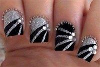 15+ Black & Silver Gel Nail Art Designs & Ideas 2016 ...