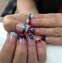 4th July Toe Nail Art Designs - NailArts Ideas