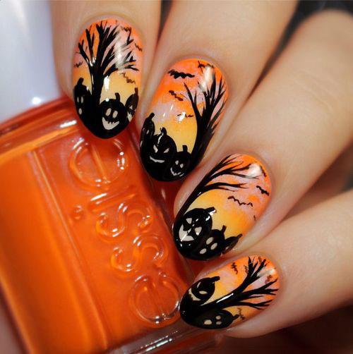 30+ Halloween Nails Art Designs & Ideas 2016
