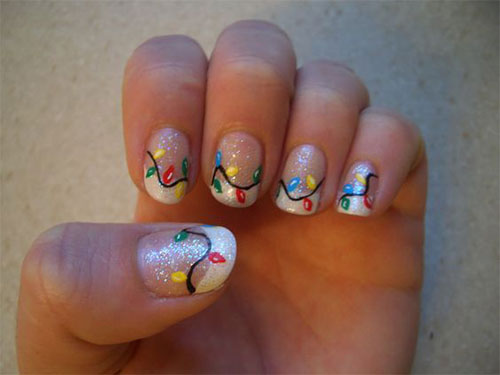 18 Christmas Lights Nail Art Designs Ideas 2016 Xmas