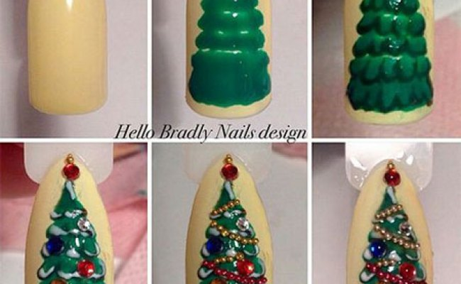18 Easy Step By Step Christmas Nail Art Tutorials For Beginners 2016 Fabulous Nail Art Designs