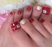 20 Best Merry Christmas Toe Nail Art Designs 2016 ...