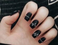 18 Awesome Winter Black Nails Art Designs & Ideas 2016 ...