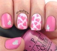 15+ Pink Valentine's Day Nail Art Designs & Ideas 2017 ...