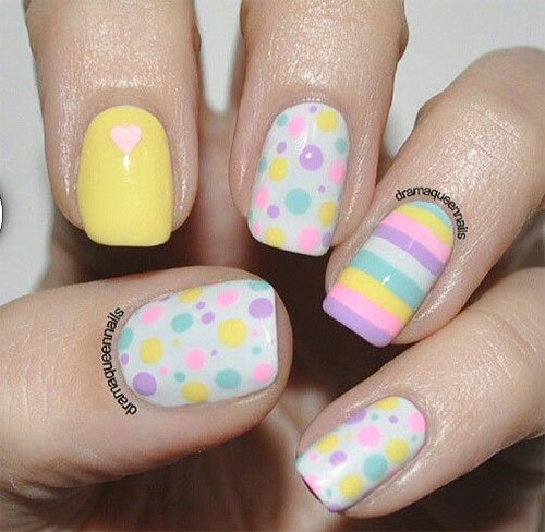 15 Easter Color Nail Art Designs & Ideas 2017