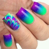 15 Without Water Marble Nails Art Designs & Ideas 2017 ...