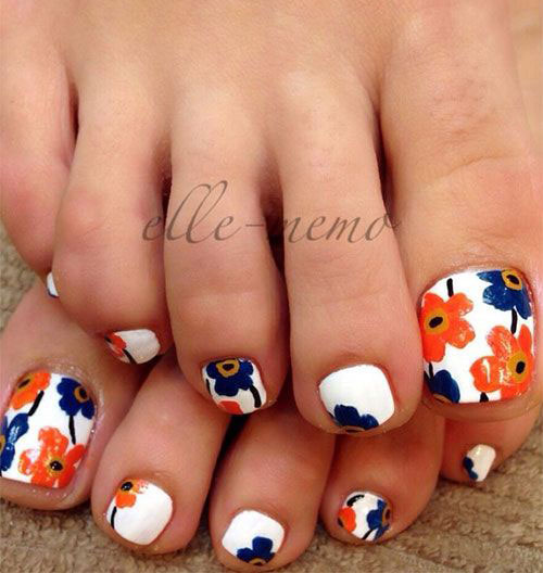 15+ Spring Toe Nails Art Designs & Ideas 2017