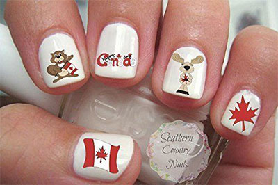 Canada Day Nails Stickers Decals 2017 Fabulous Nail