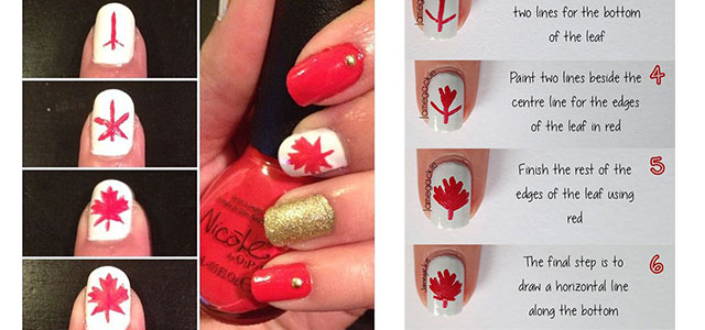 Easy Step By Step Canada Nails Tutorials For Beginners