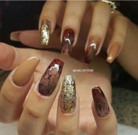 15 Autumn Acrylic Nail Art Designs & Ideas 2017 / Fall ...