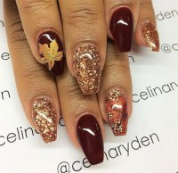 15 Autumn Acrylic Nail Art Designs & Ideas 2017 / Fall ...