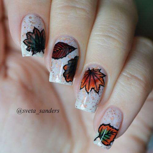 15+ Autumn Gel Nail Art Designs & Ideas 2017