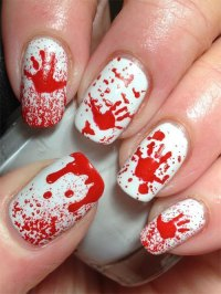 15+ Halloween Acrylic Nails Art Designs & Ideas 2017