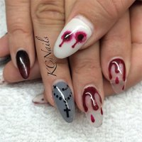 15 Scary Halloween Nails Art Designs & Ideas 2017 ...