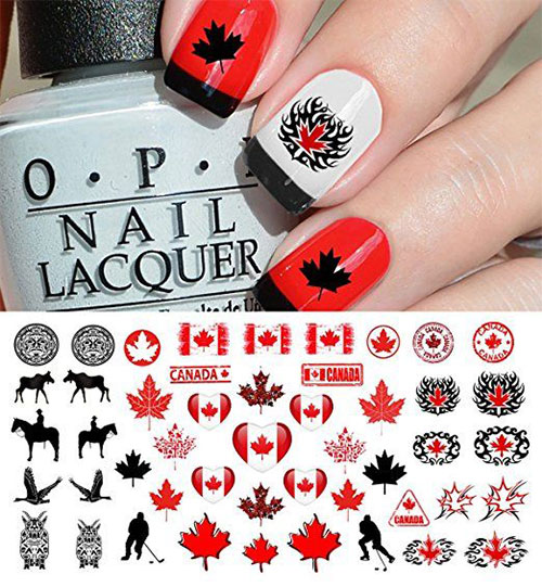 Canada Day Nails Stickers Decals 2018 Fabulous Nail