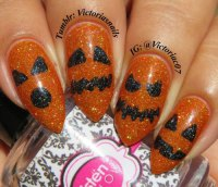 18 Cute Halloween Pumpkin Nails Art Designs & Ideas 2018 ...