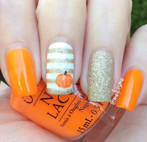 √ 18 Cute Halloween Pumpkin Nails Art Designs \u0026 Ideas 2018