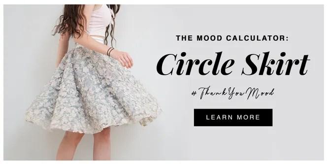 Circle Skirt Calculator - Mood Fabrics