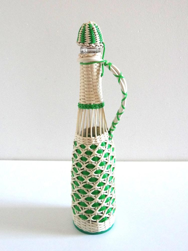 botellas trenzadas scoubidou vintage fabricadeimaginacion29