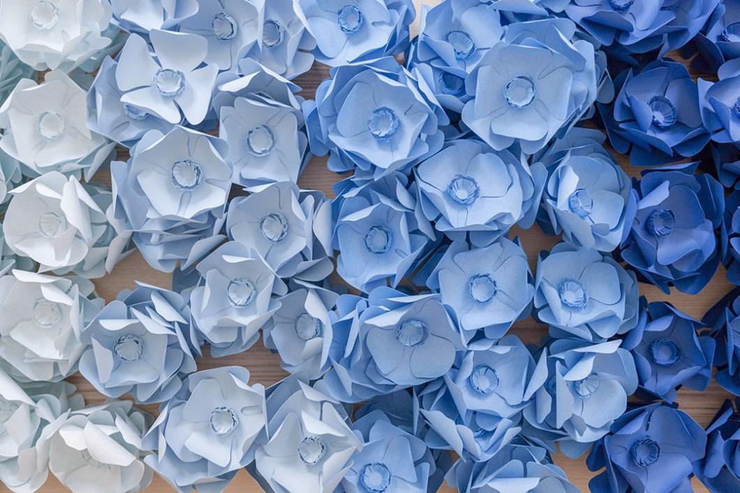 DIY Guirnalda de flores anémonas de papel · DIY Paper anemones garland · Fábrica de Imaginación · Tutorial in Spanish