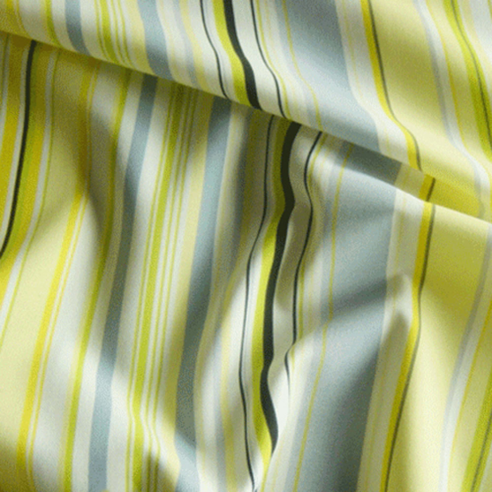 Lemon Green Curtains Printed Stripe Curtain Fabric
