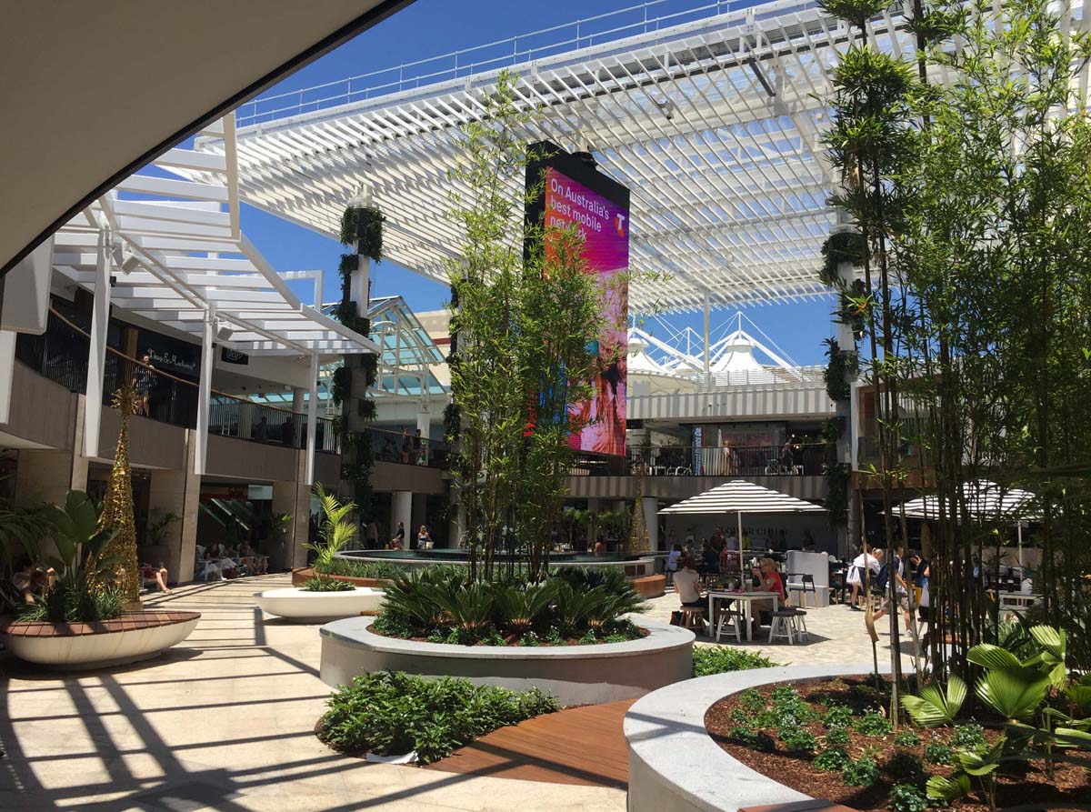 atrium, ETFE, Warringah Mall, Sydney, Louver
