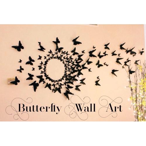 Medium Crop Of Butterfly Wall Decor